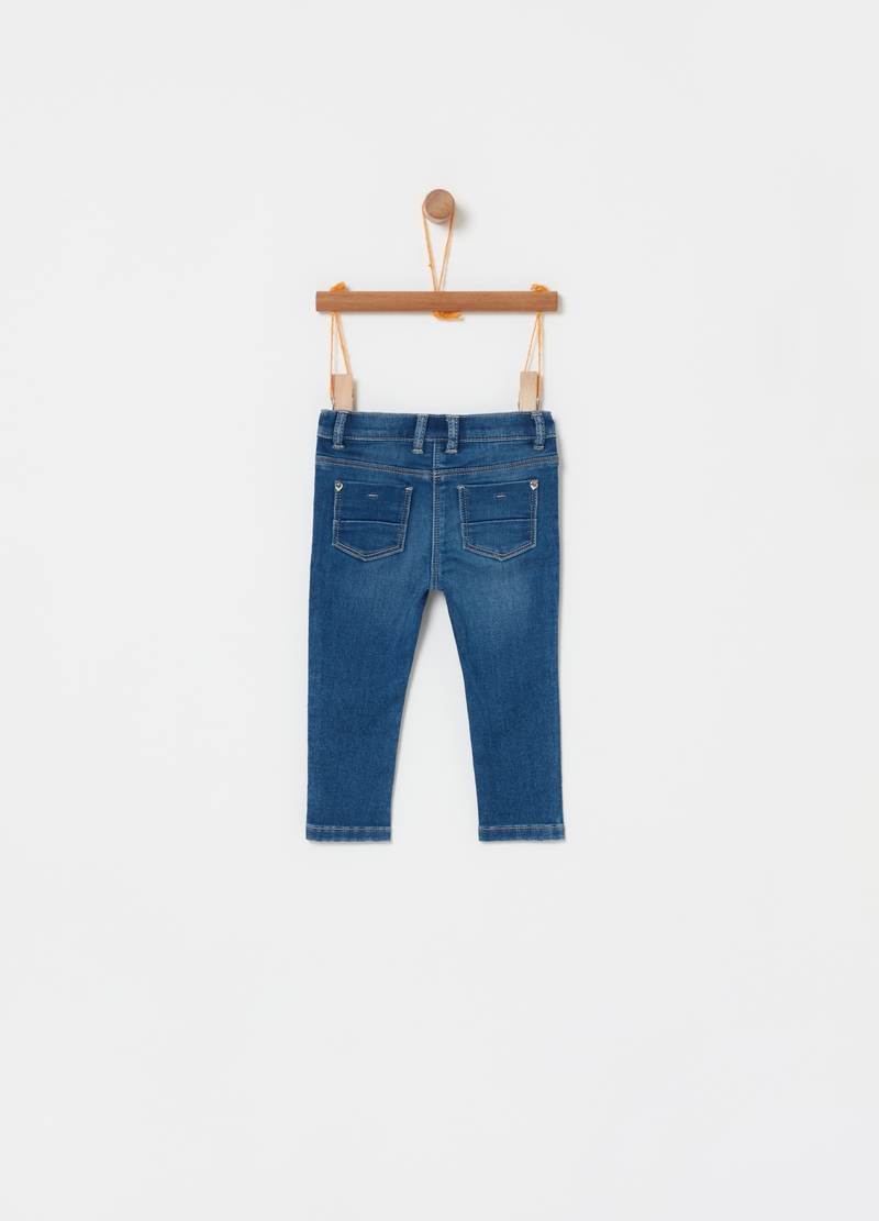 Jeans stretch con paillettes image number null