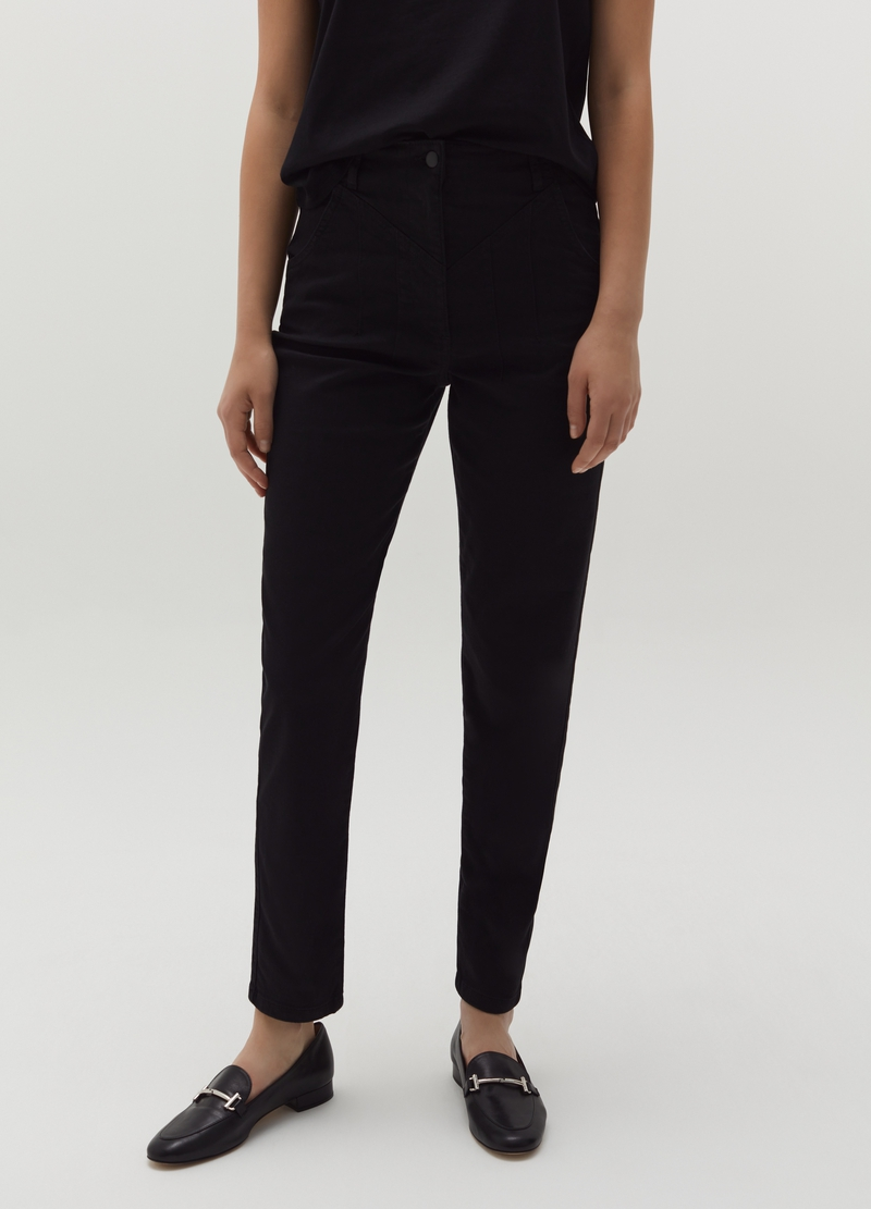 Cigarette trousers in twill image number null