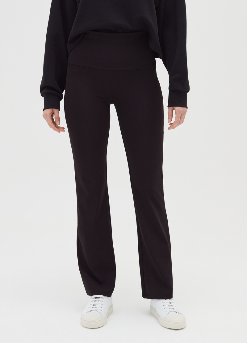 Flared trousers in microfibre image number null