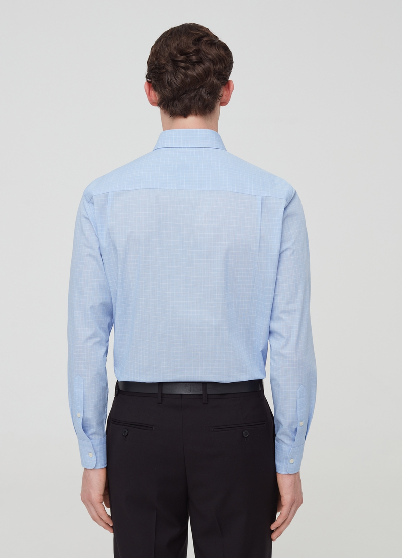 Regular-fit shirt with micro check pattern image number null