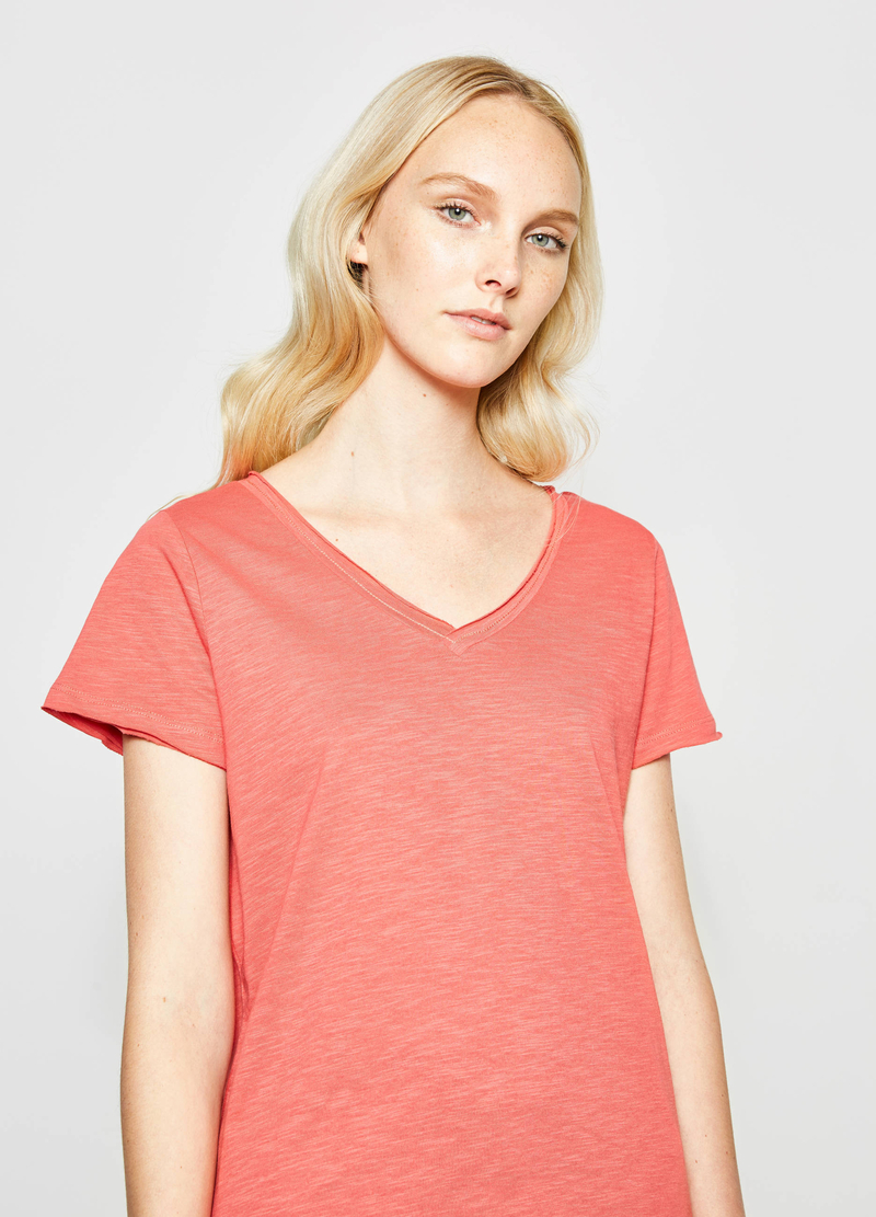 Cotton T-shirt with splits image number null