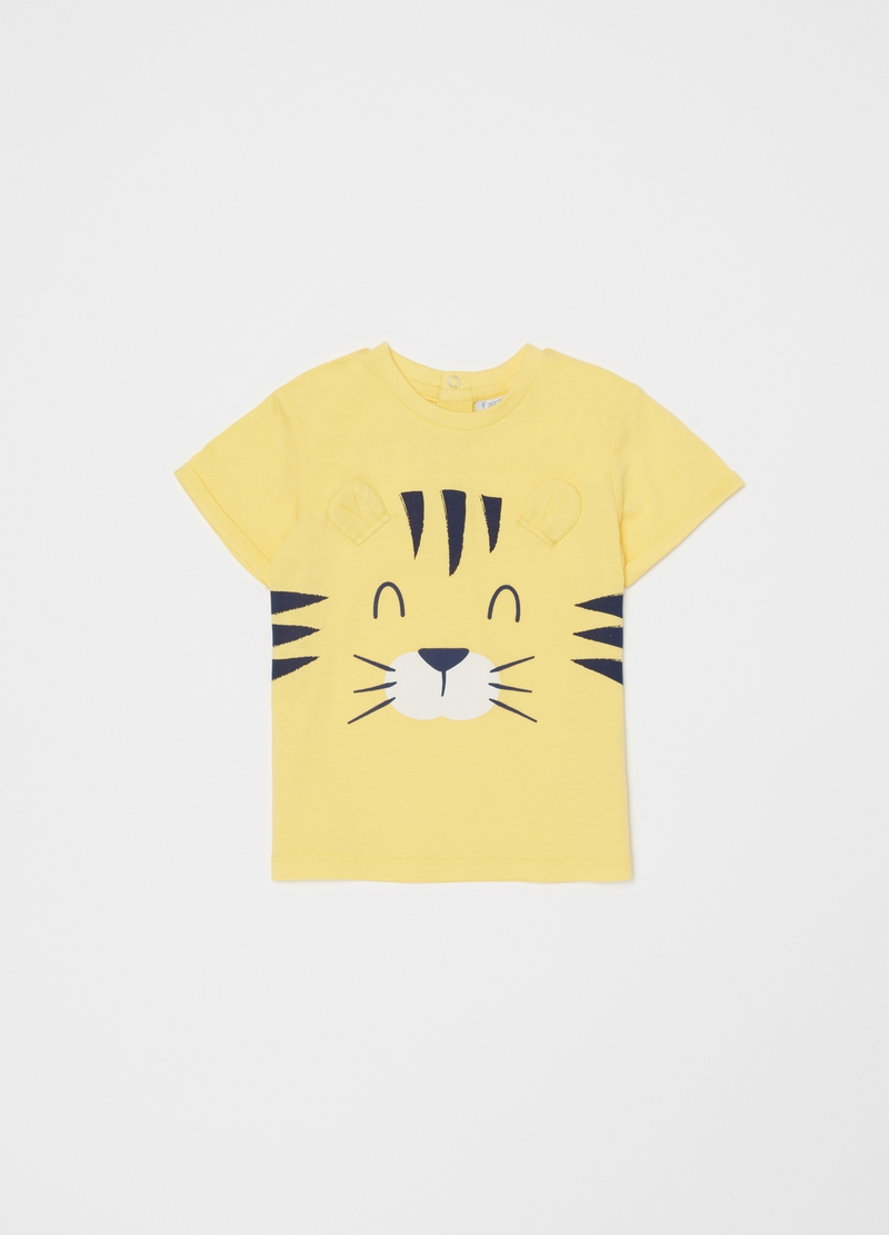 Short pyjamas with tiger with ears print image number null