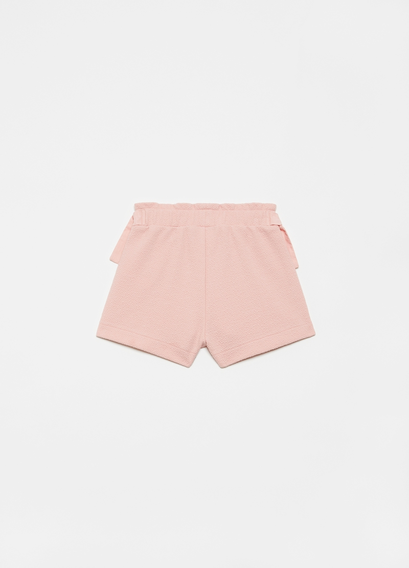 Stretch shorts with bows image number null