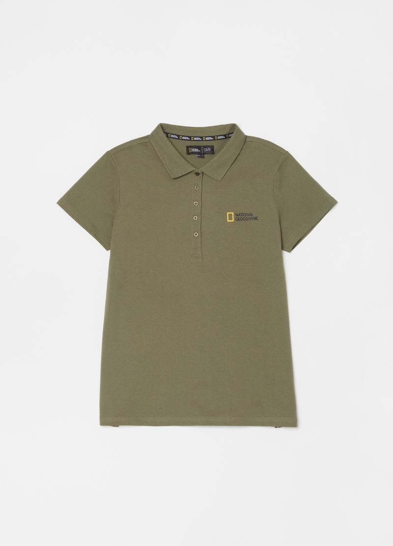 Stretch cotton National Geographic polo shirt image number null