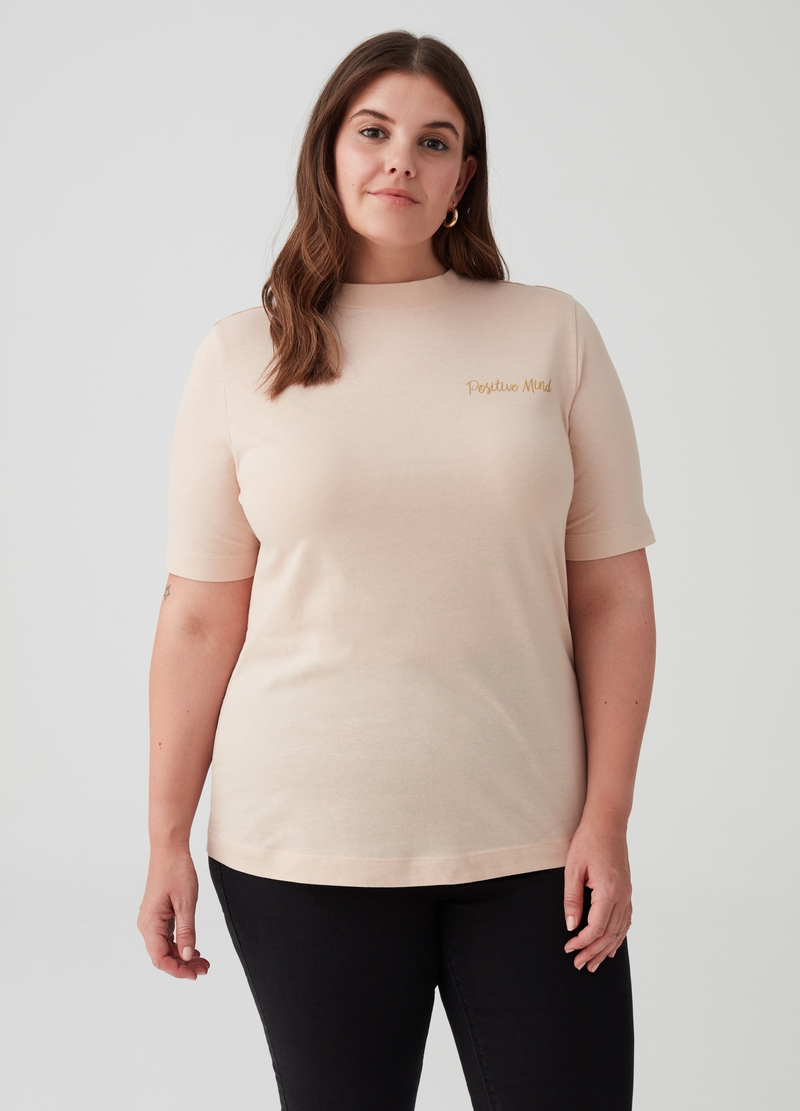 T-shirt puro cotone con stampa Curvy image number null