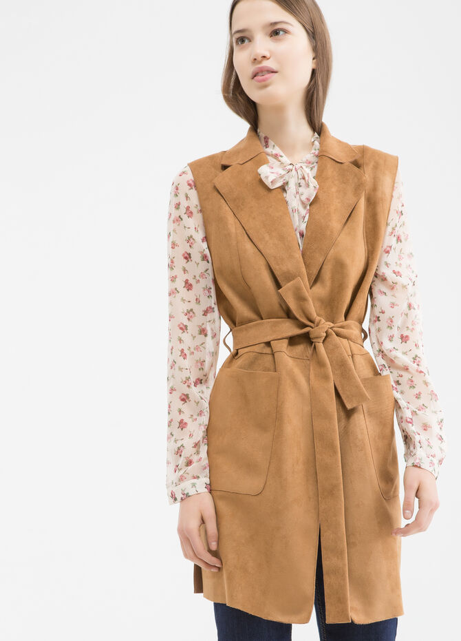 Gilet in similpelle scamosciata