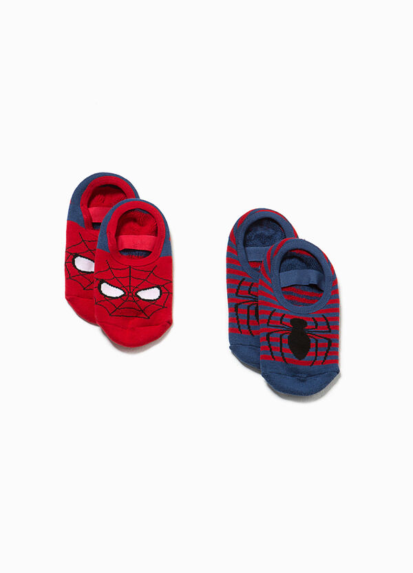 Two-pair pack Spiderman slipper socks | OVS