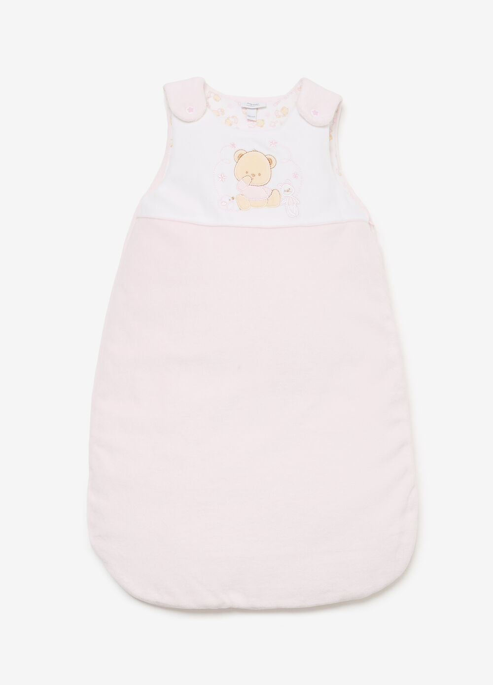 Cotton blend baby sleeping bag with patch