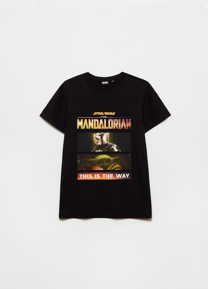 T-shirt with Star Wars The Mandalorian print image number null