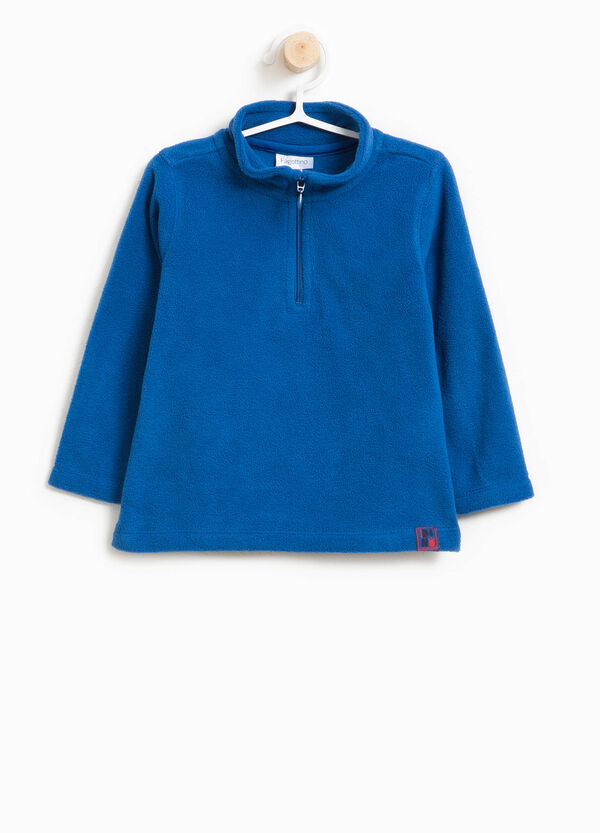 Solid colour sweatshirt with high neck