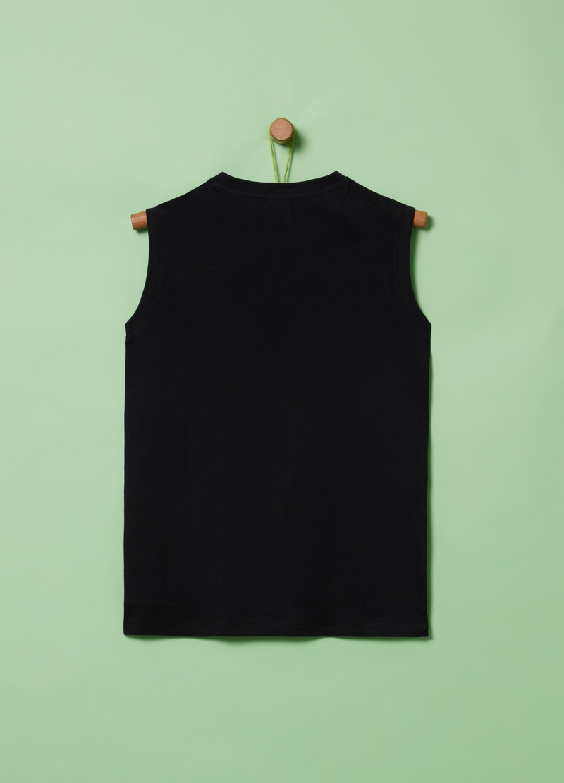 100% cotton tank top with lettering print image number null
