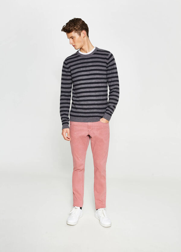 Skinny-fit stretch cotton trousers