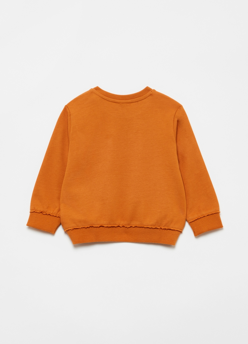 100% organic cotton sweatshirt with small pocket image number null
