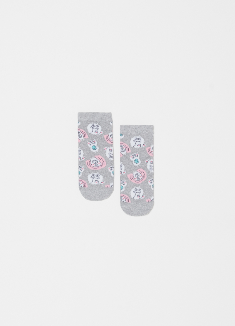 Stretch slipper socks with monster pattern image number null