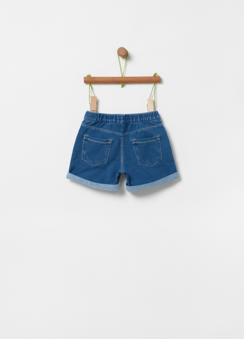 Shorts in French Terry con strass image number null
