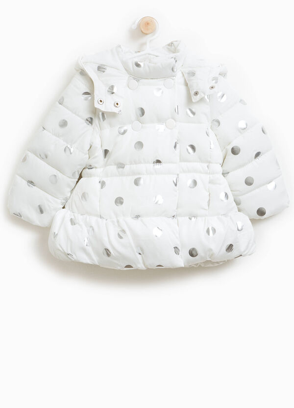 Polka dot jacket with hood