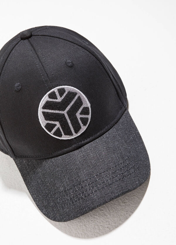 Baseball cap with patches