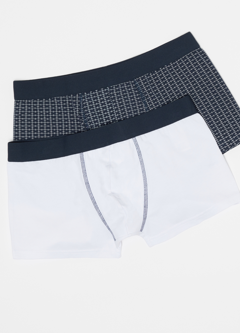 Two-pack boxer shorts with internal elastic and pattern image number null