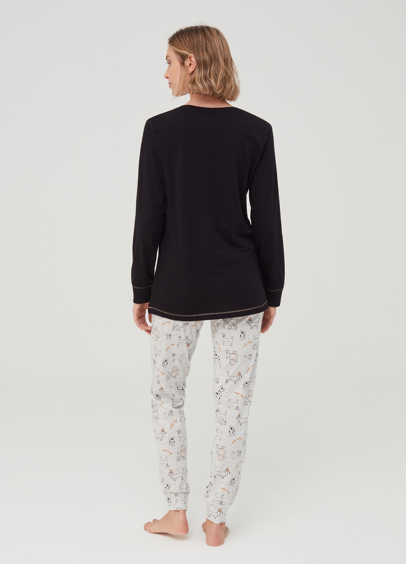 Pyjama top and trousers with pattern image number null