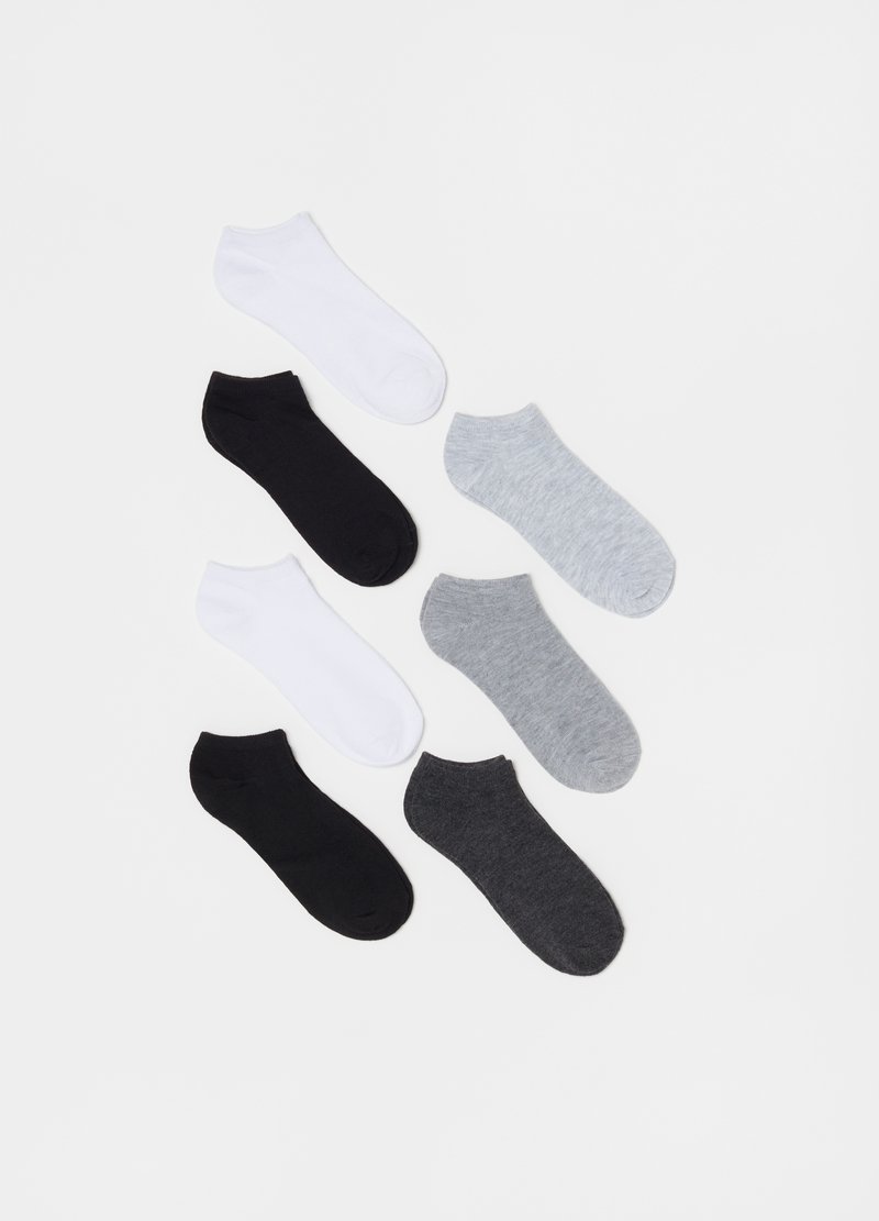 Seven-pair pack stretch shoe liners image number null