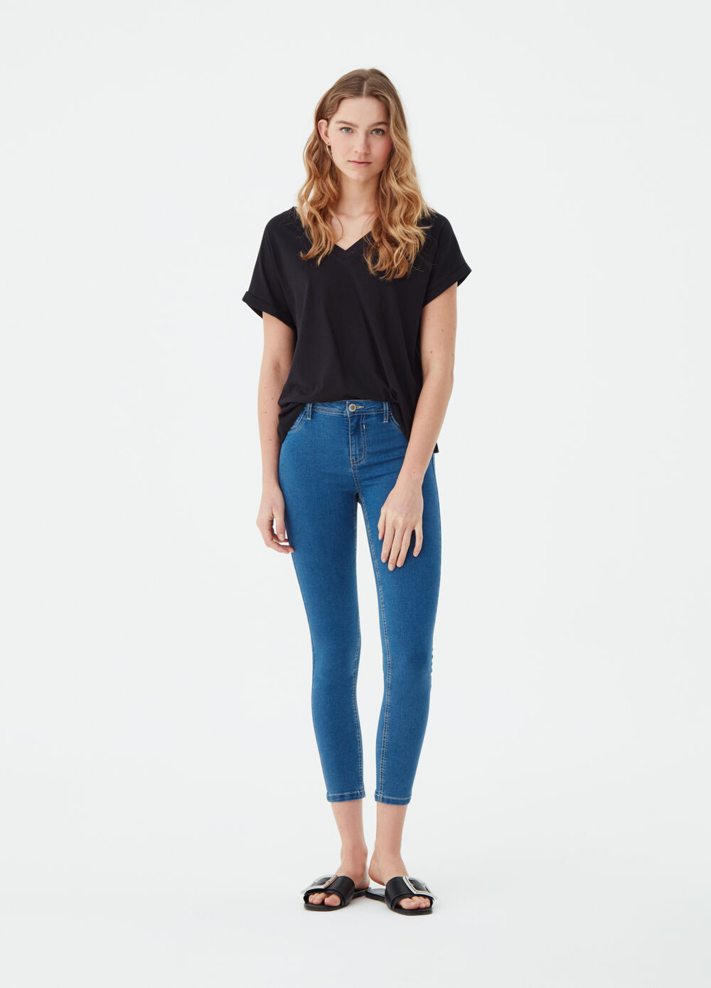 Jeans superskinny basic tinta unita