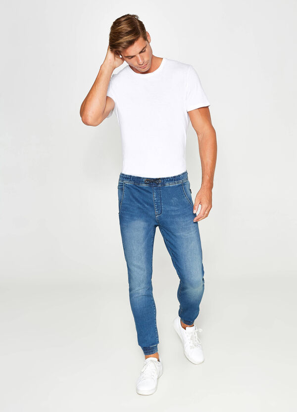 Loose-fit jeans with elasticated waist | OVS
