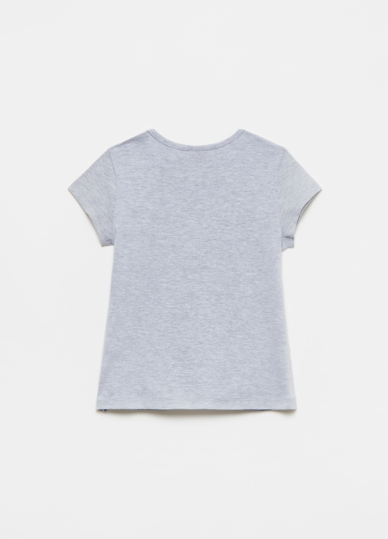 T-shirt mélange con stampa ciliegie image number null