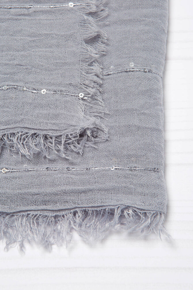 Solid colour scarf with sequins