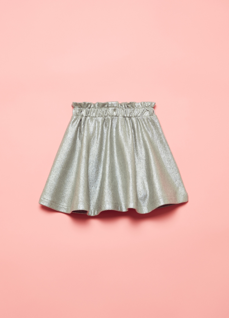 Skirt with lamé effect image number null