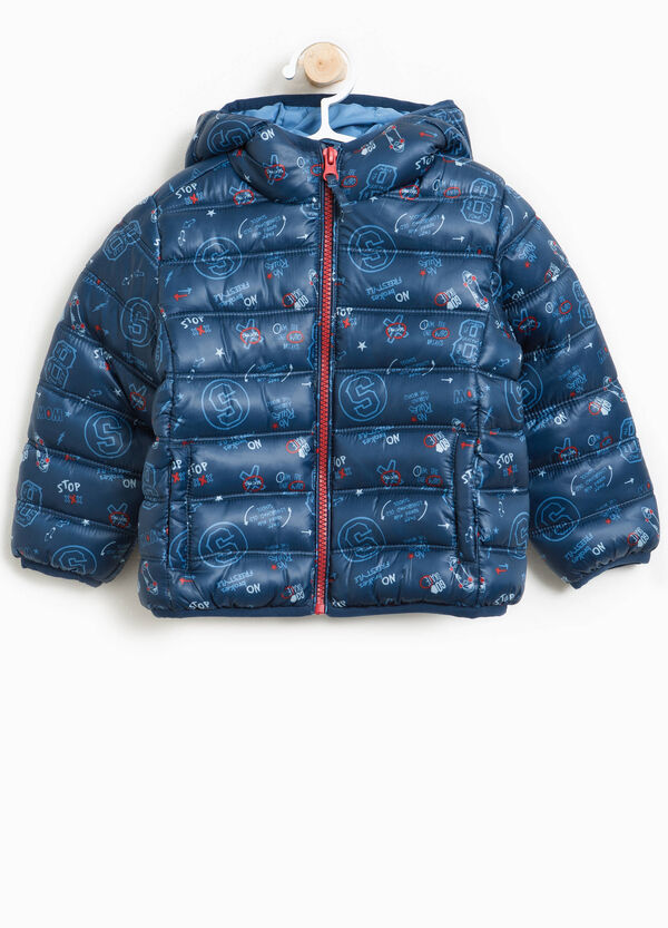 Jacket with hood and pattern | OVS