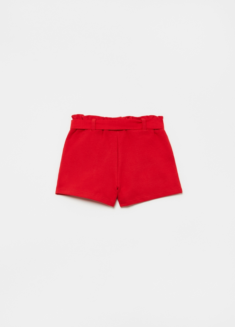 Shorts con fiocco e tasche image number null