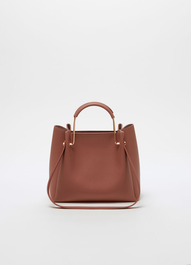 City bag con tracolla similpelle