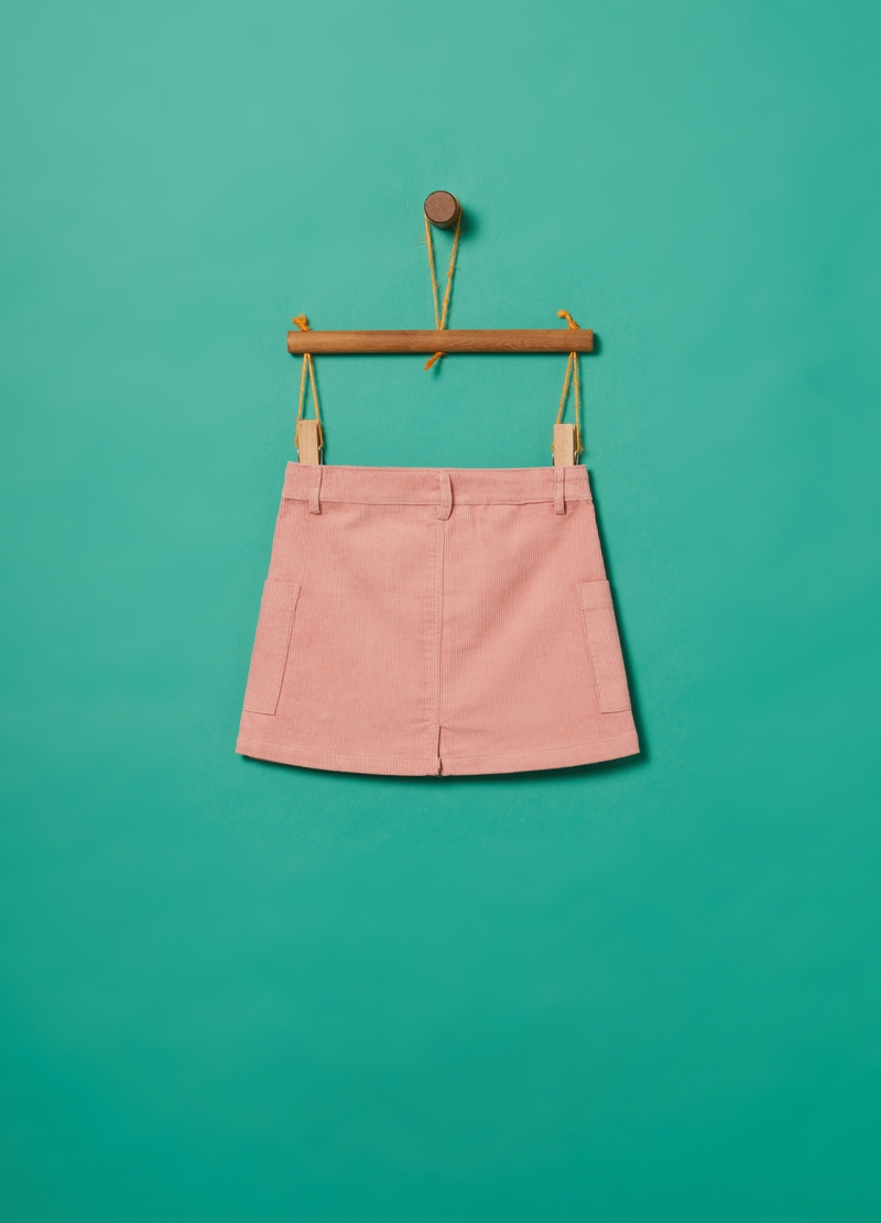 Gonna puro cotone corduroy e tasche image number null