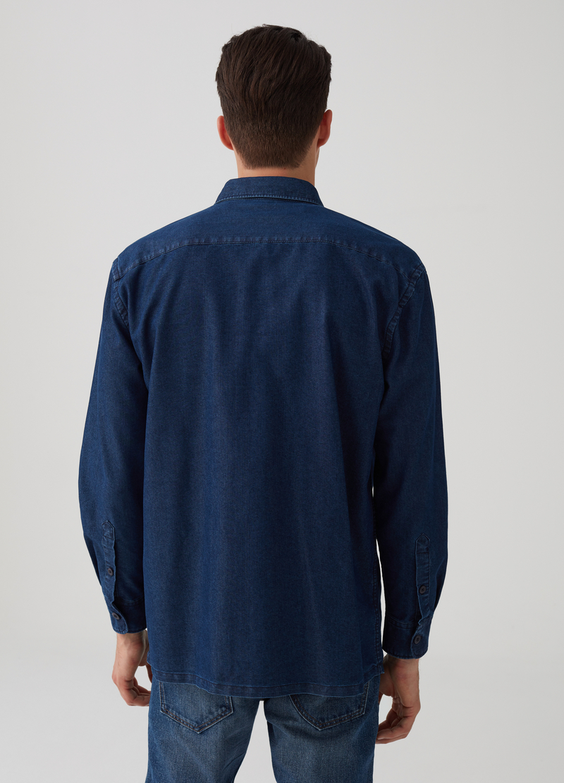 Giacca camicia comfort fit in denim image number null