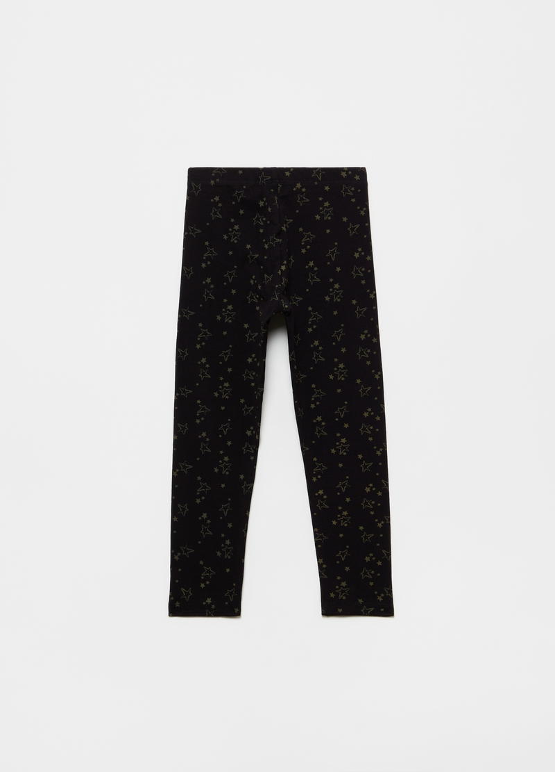 Leggings stampa stelle all-over image number null