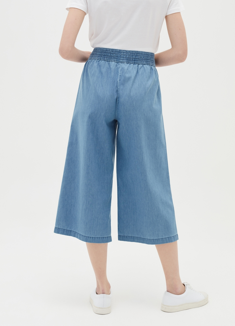 Wide-leg crop jeans image number null