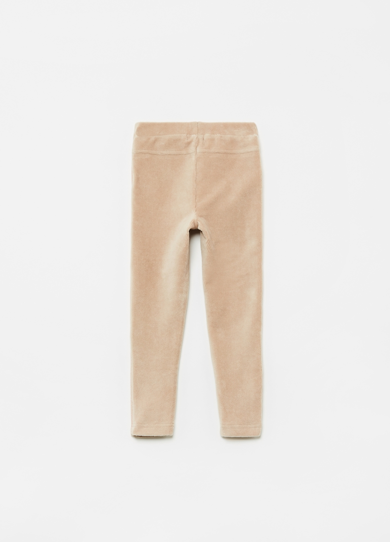 Treggings in corduroy stretch image number null