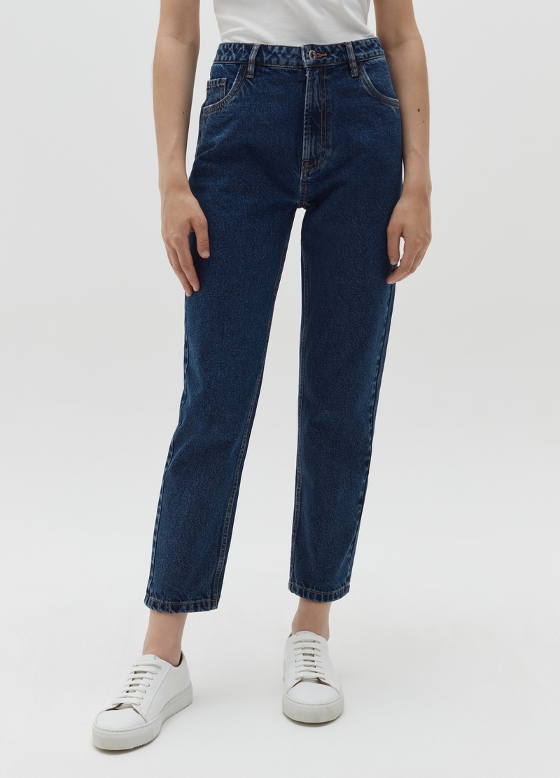 Mum-fit jeans with five pockets image number null