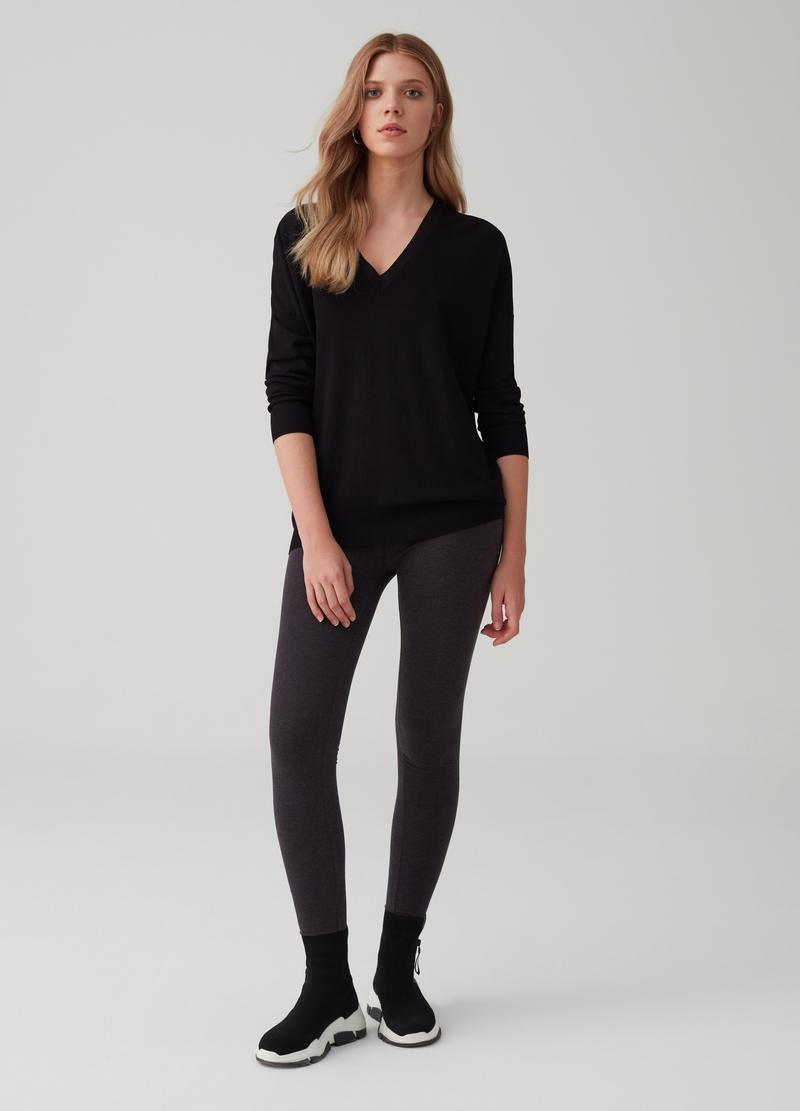 Leggings stretch mélange image number null