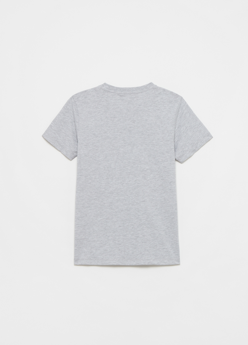 Printed cotton mélange T-shirt image number null
