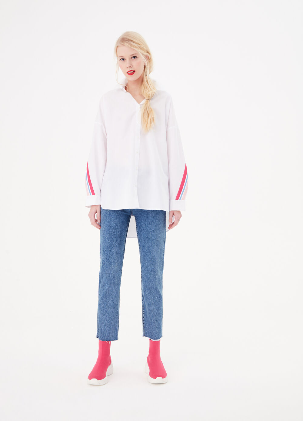 Oversize shirt with band