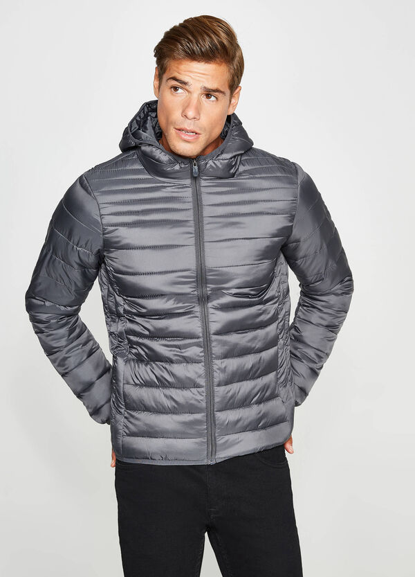 Down jacket with hood and high neck | OVS
