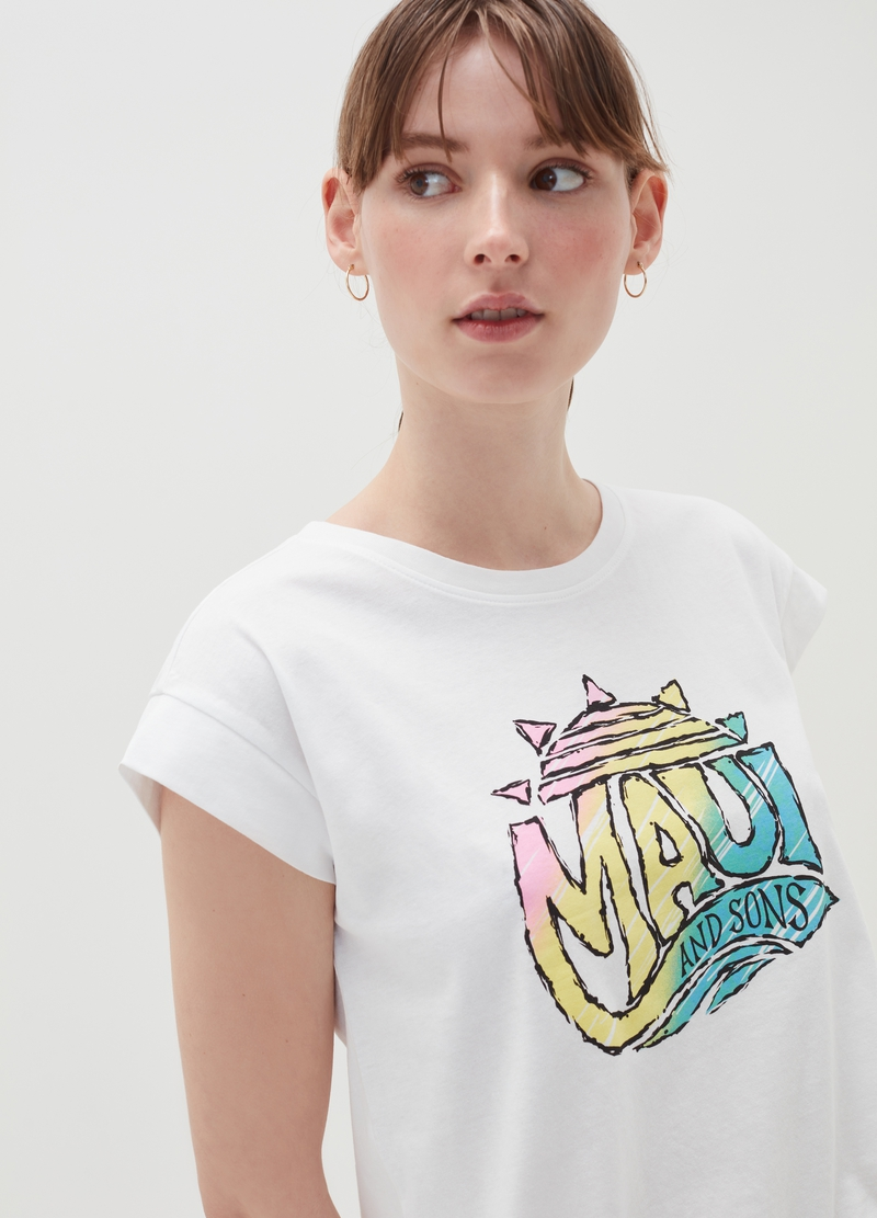 T-shirt con maniche ad aletta Maui and Sons image number null