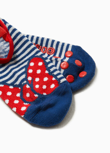 Two-pair pack Minnie Mouse slipper socks