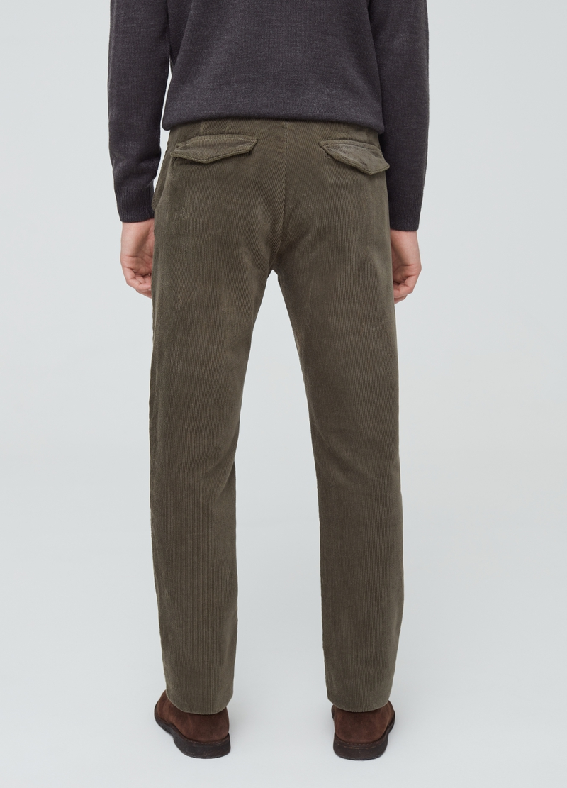 Pantaloni chino in corduroy stretch image number null