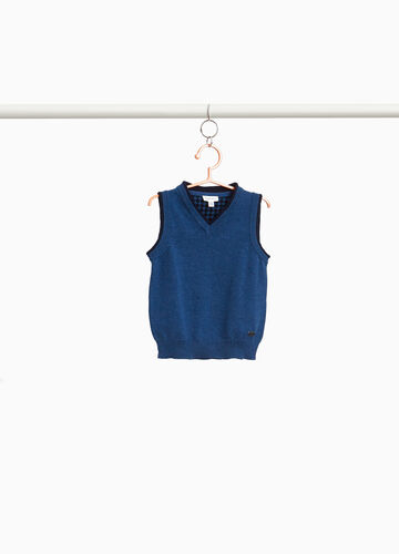 100% cotton gilet with edging