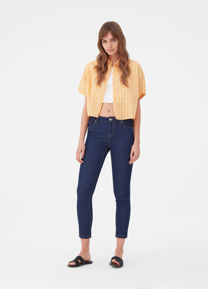 Jeans crop skinny fit cinque tasche