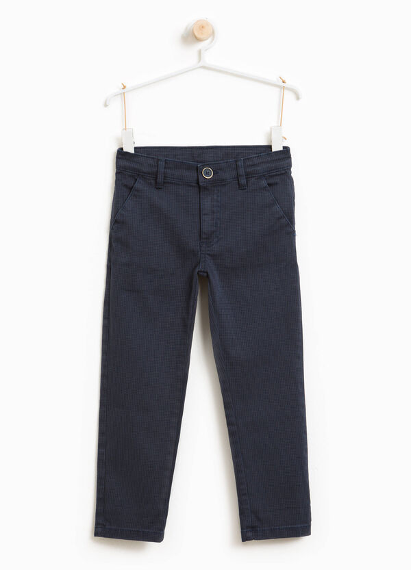 Stretch micro check chino trousers | OVS
