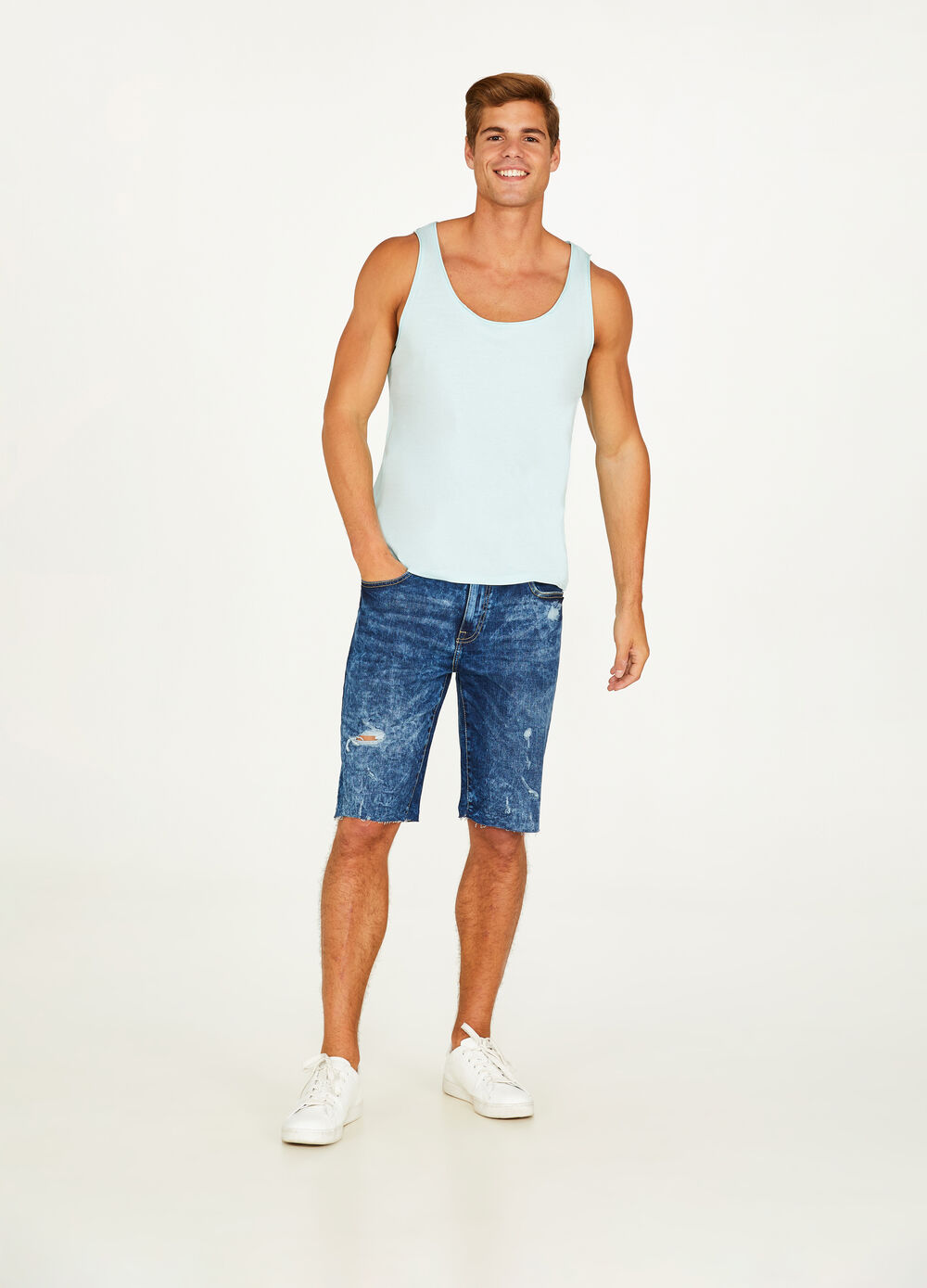 100% cotton vest with rolled edges
