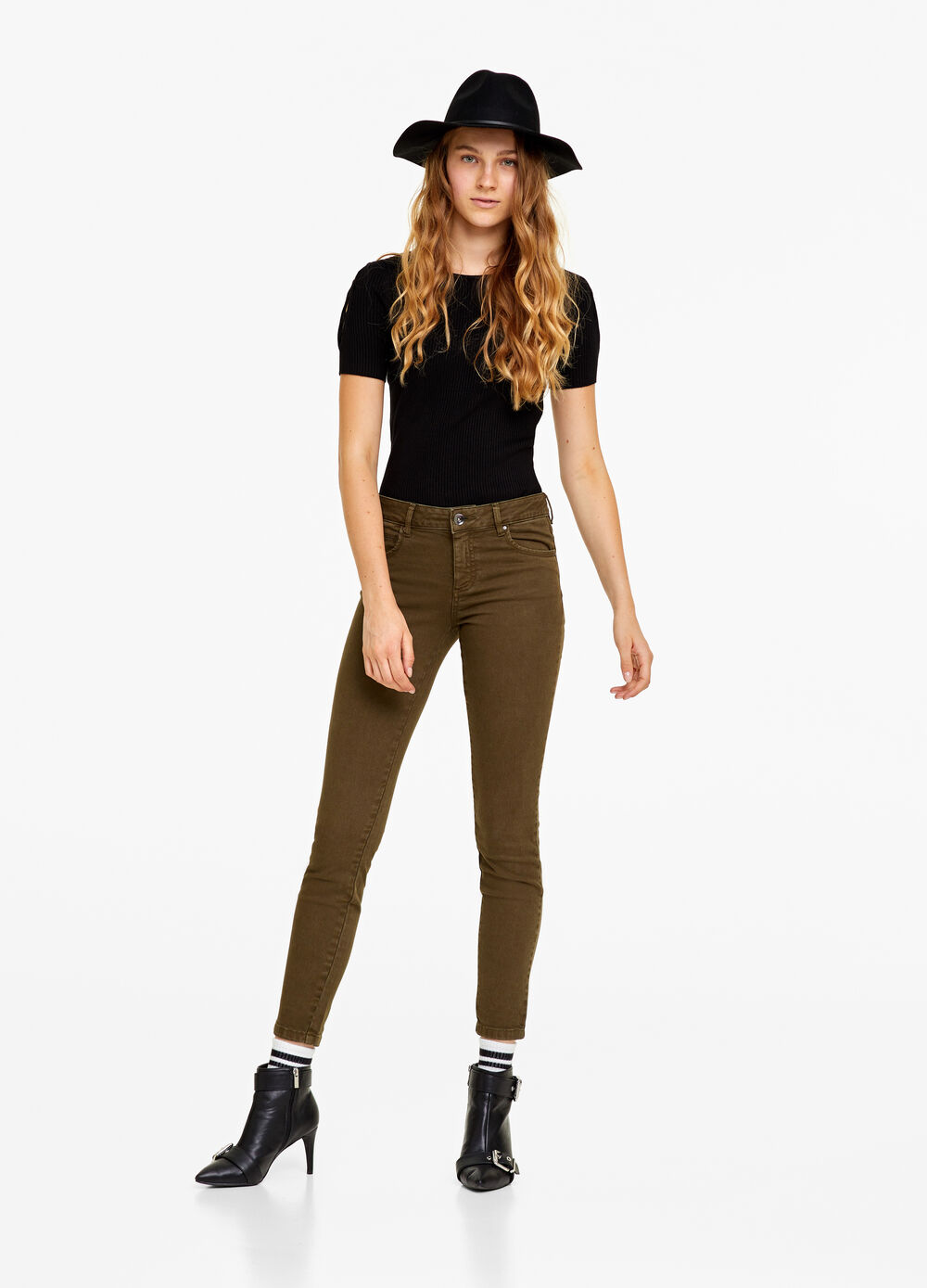 Skinny-fit stretch trousers